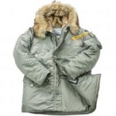 Куртка Аляска Husky Military Green Bay (Nord Denali)